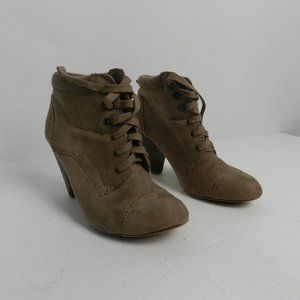 XXI Womens Lace Up Suede Ankle Booties